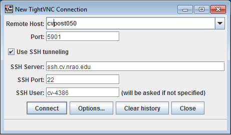 Accessing the cvpost cluster with VNC — NRAO Information