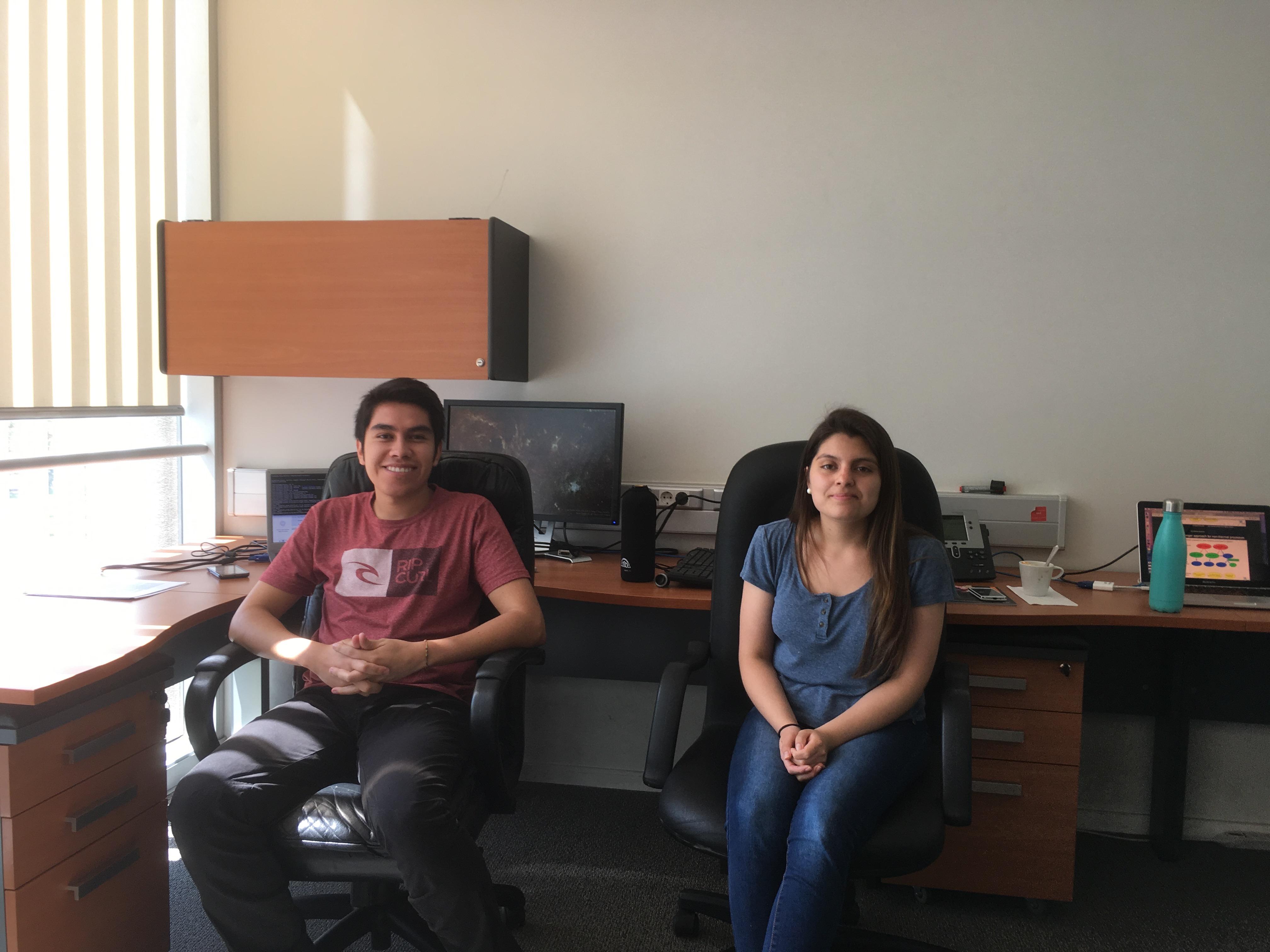 Michel Maluenda and Valentina Zagal, Summer 2017 interns.
