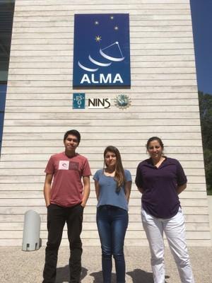 Michel Maluenda, Valentina Zagal and Dr. Loreto Barcos during summer 2017.