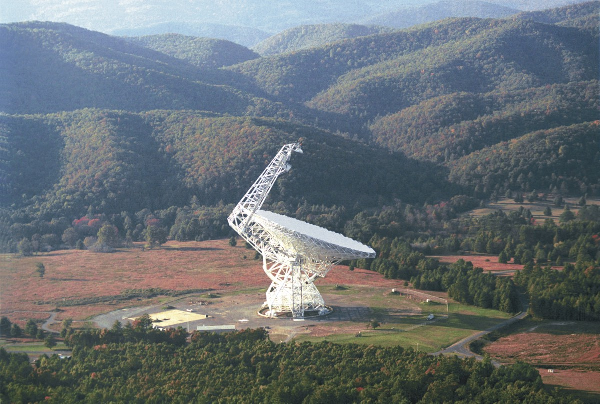 "With a dish larger than an entire football field, the Green Bank Telescope (GBT) is the largest fully steerable radio telescope in the world! Astronomers use the GBT to explore the ""invisible"" universe, helping to unlock its many secrets!"