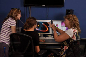 NRAO Support Scientist, Alison Peck, with an international group of scientists and students