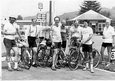 Biking from Charlottesville to Green Bank, 1984