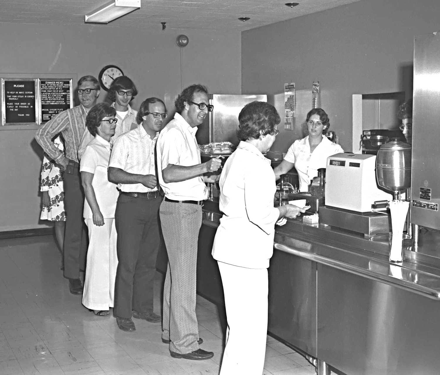 Green Bank Cafeteria, 1977