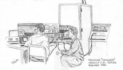 Preparations for Tracking Voyager, November 1985