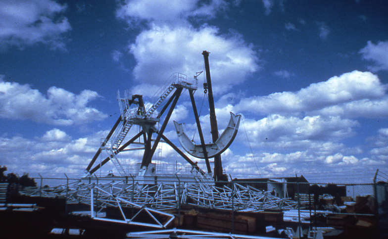 VLBA Construction, Pie Town NM, 1986