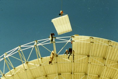Installing Surface Panel, Los Alamos, October 1987